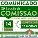 COMUNICADO DE REUNIÃO DE COMISSÕES